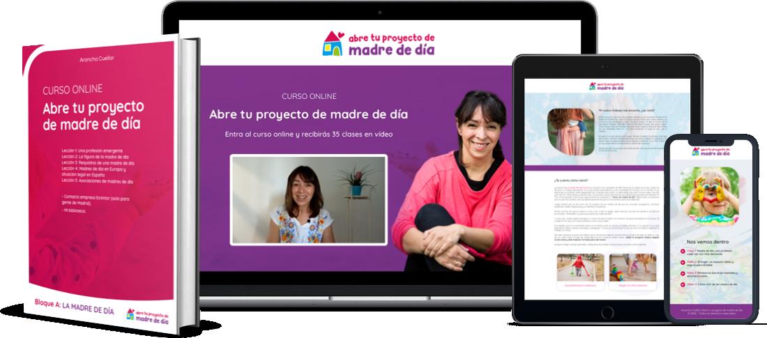 Abre tu Proyecto de Madre de Dia - Mockup Curso