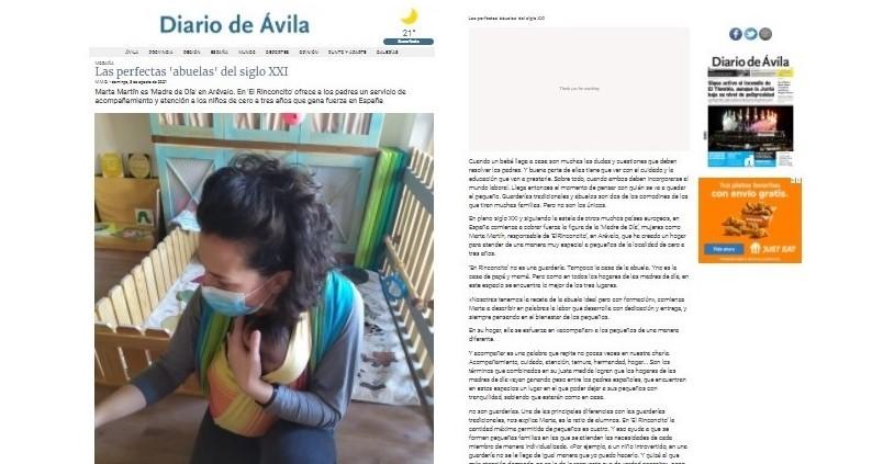 Como ser madre de día - El Rinconcito de Arévalo, el hogar donde Marta ofrece ternura y calidez a la infancia